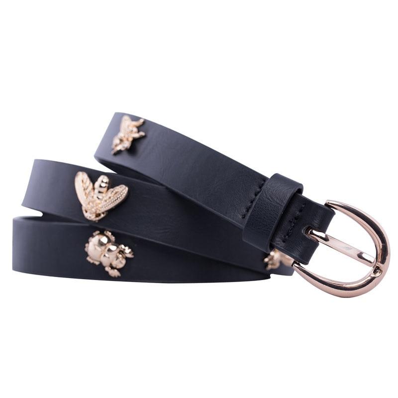 2019 Women Bee Belt Trending Designer Jeans Waist Strap Belts For Women 39 s Dress Stylish PU Leather Belt Jeans Casual Girdle in Women 39 s Belts from Apparel Accessories
