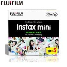 Подлинная Fujifilm Instax Mini фильм белый край 50 листов для Fuji Instax Mini 8 7 s 25 50 90 SP1 Мгновенный Камера фото пленка, бумага