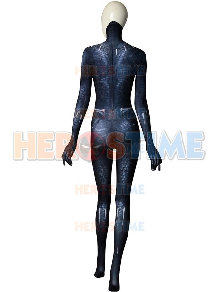 Spandex 3D Print Female Black Panther 2018 Version Superhero Costume Halloween Zentai Cosplay Black Panther Bodysuit Custom Made
