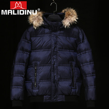 MALIDINU 2019 Duck Down Jacket Men Winter Coat Thick Real Raccoon Fur Mens Jackets Outwear Free Shipping