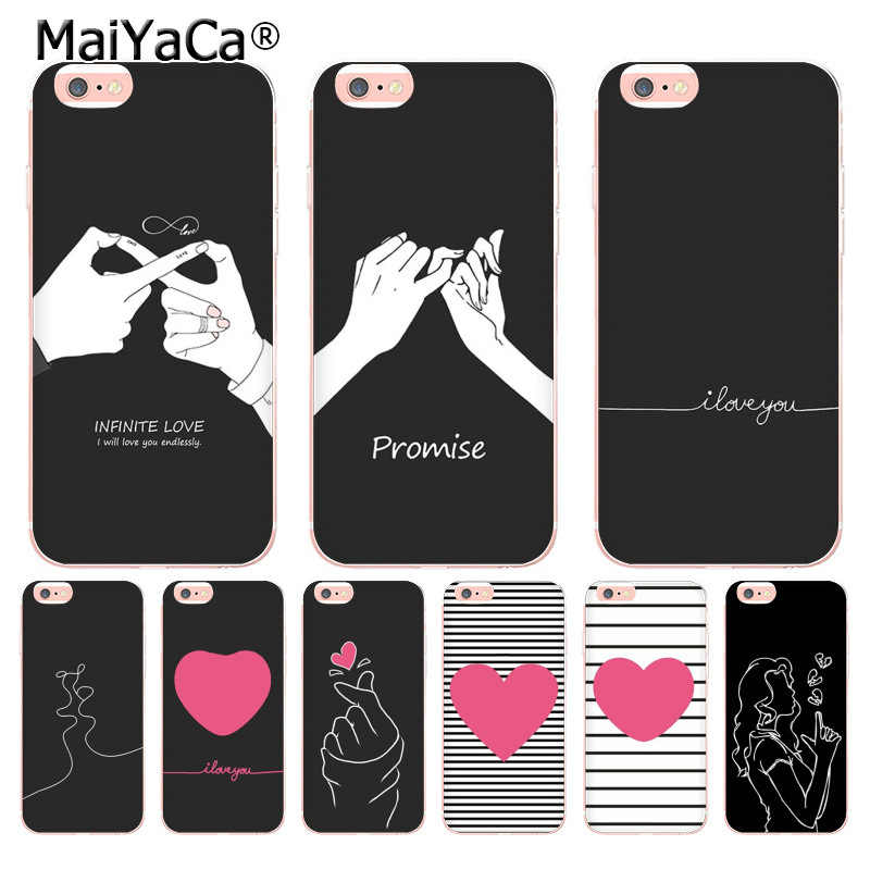 MaiYaCa kpop Heart drawing I Love You Pull hook Новый чехол для телефона iphone 11 Pro 8 7 6 6S Plus X 10 XS XR 4S Coque Shell