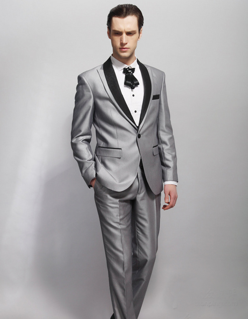 New Design Jacket For Groom Tuxedos 2 psc Groomsman Suit As Wedding Suit Custom Made Man Suit for Man Clothes(Jacket+pants)