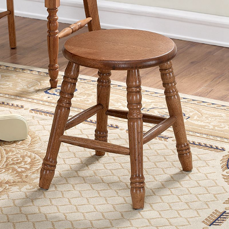 Round Wood Seat Wooden Stool Chair Solid Oak Wood Living Room Furniture  Childern Small Stool Wooden Modern Low Dressing Stool In Stools U0026 Ottomans  From ...