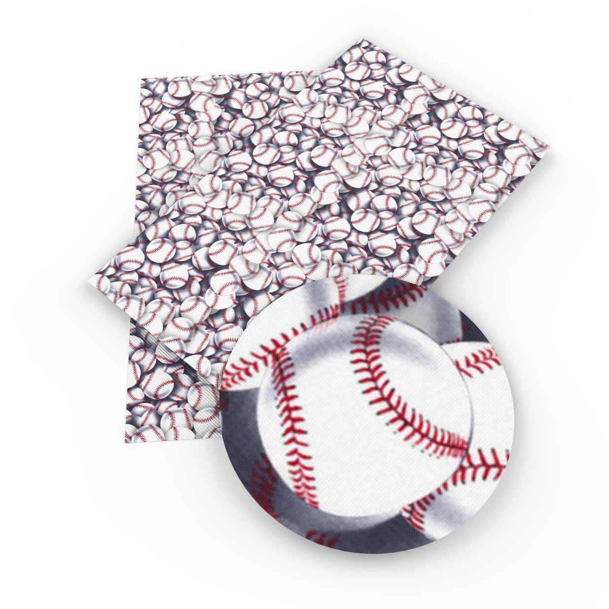 David acessórios 20*34cm futebol esportes baseball Falso Tecido De Couro Sintético Sacos Knotbow DIY Decorativo, 1Yc3574