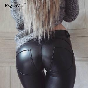 FQLWL Plus Sizes Women Black Female Leggings Casual Skinny