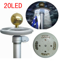 20pcs High Bright LED Solar Light For Flagpole Top Mount For Yard Camping Garden Decor