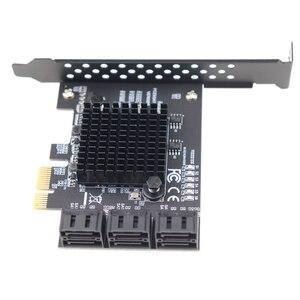 Image 5 - PCIe 2.0X1 SATA III 6 พอร์ตอะแดปเตอร์ชิปเซ็ตMarvell Non RaidสำหรับIPFS Hard Driveการทำเหมืองแร่และเพิ่มSATA 3.0 อุปกรณ์