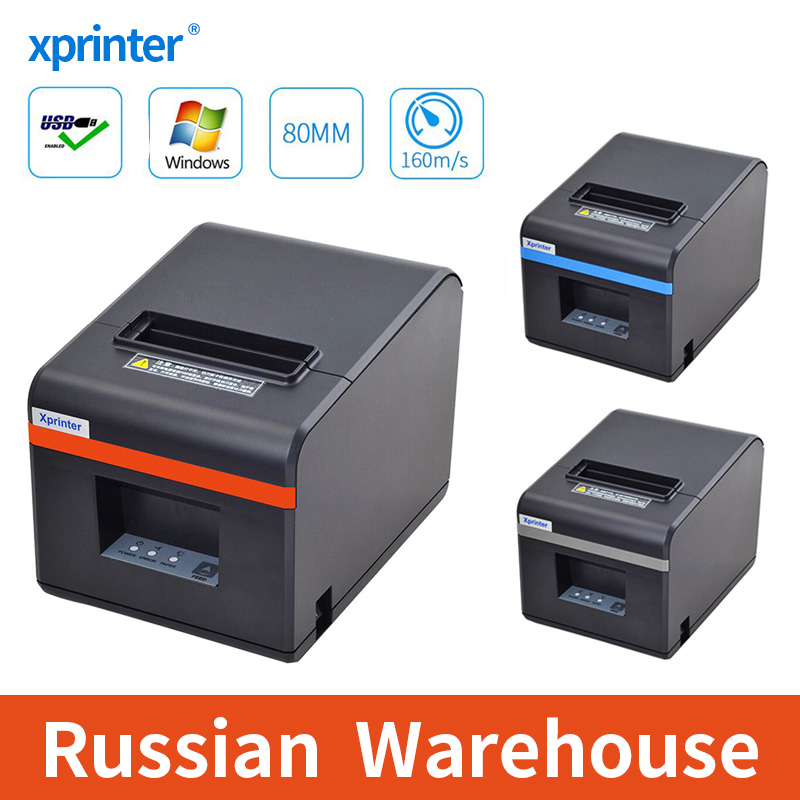 Xprinter 80mm Thermal Receipt Printers Bill POS Printer With Auto Cutter For Kitchen USB/Ethernet Port Shop Restaurant(China)