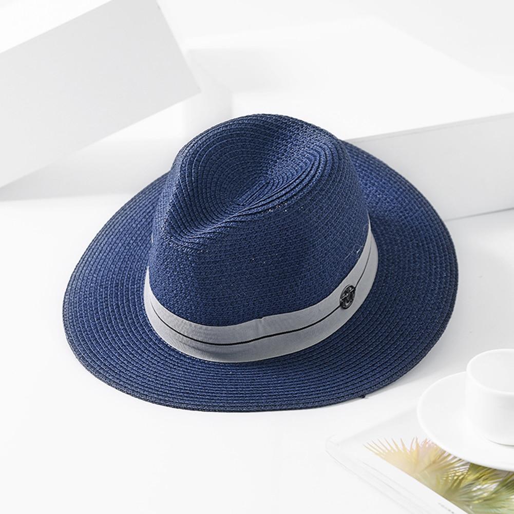 Filzhüte Diskret Flache Krempe Einstellbar Strand Jazz Panama Stroh Allgleiches Mode Frauen Hüte Einfache Kappe Sonnenschutz Im Freien Sommer Casual Gute WäRmeerhaltung
