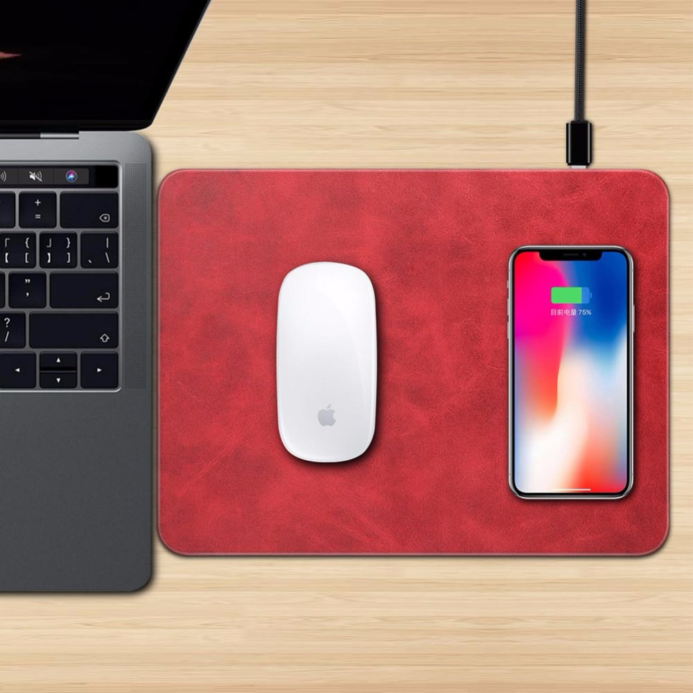Mobile Phone Qi Wireless Charger Charging Mouse Pad Mat for iPhone X (4)