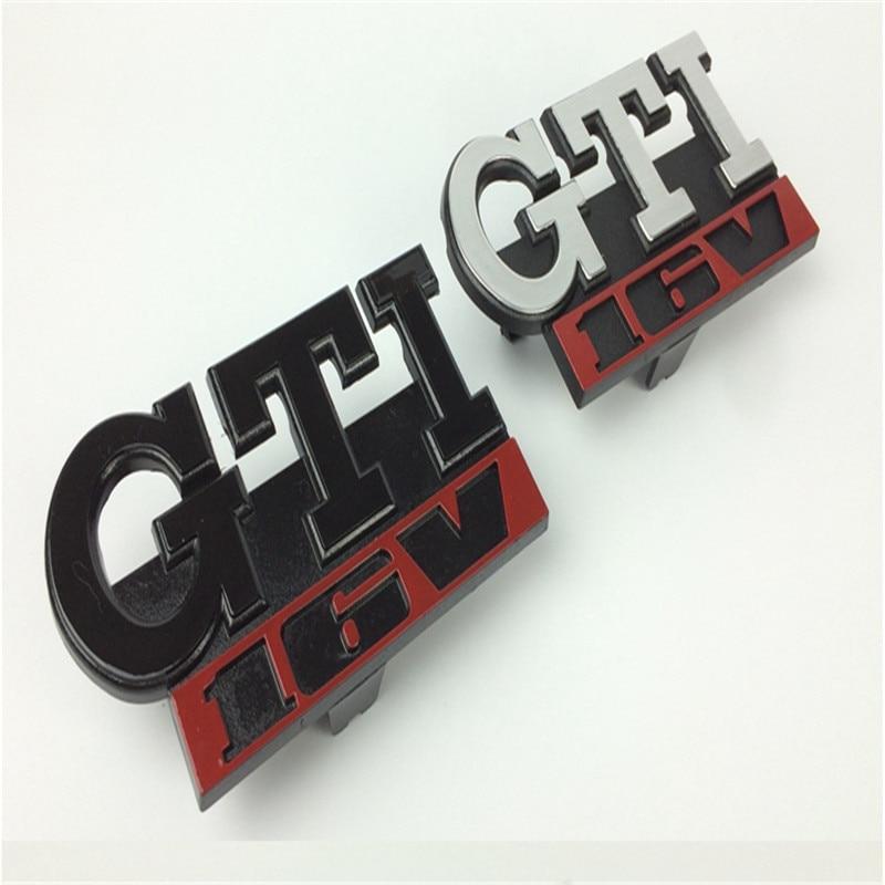 1pc GTI 16V Grille Emblem for GOLF GTI 16V Car Grille Grill Badge for  GOLF Matt  3D ABS Badge 021sv GTI Car Sticker golf 3 td 2011