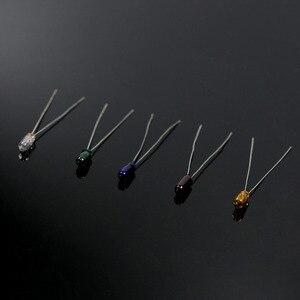 Image 2 - MP02 100 قطع 3 ملليمتر 12 فولت مصغرة الحبوب من القمح لمبات مختلط اللون الأحمر/الأصفر/الأزرق/ الأخضر/الأبيض جديد