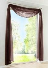 New Sheer Voile Window Scarf Curtains Fashion European curtain valance 1PCS