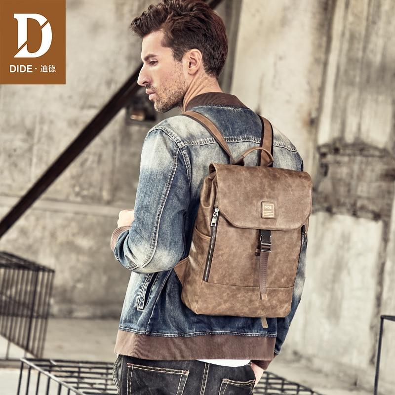 DIDE 2018 New Travel Backpack Men Shoulder School Bag Laptop Backpacks For Teenager Male Mochila Bags Waterproof Large capacity цена 2017