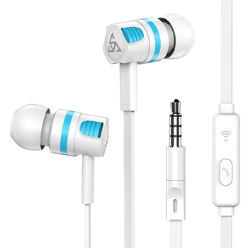 Musttrue Professional Earphone Super Bass Headset with Microphone Stereo Earbuds for Mobile Phone Samsung Xiaomi fone de ouvido Audio Audio Electronics Electronics Head phone Headphones & Headsets color: Black Earphone|Black with bag|only earphone bag|White Earphone|White with bag