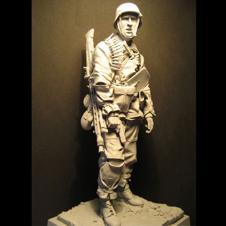 1/16 Kampgruppe Hanson 1944 Resin Figure Rank-and-file Soldiers GK Military War Theme WWII Uncoated No Colour