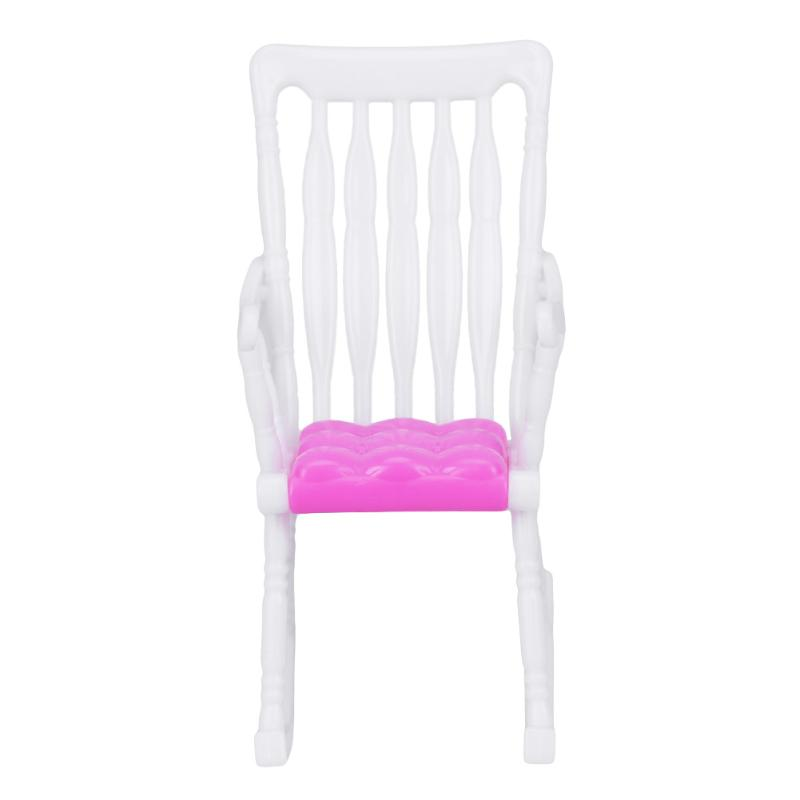1Pcs Mini Rocking Chair Barbie Furniture Accessories Plastic Furniture for Barbie Doll House Decoration Baby font