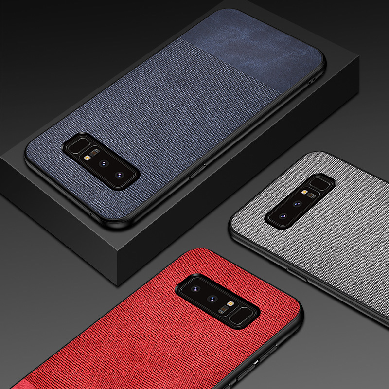 Case For Samsung Galaxy S10 Lite S9 S8 Plus S7 Edge Note 8 Case Luxury Cloth Texture Soft TPU Ultra Thin Silicone Phone Cover