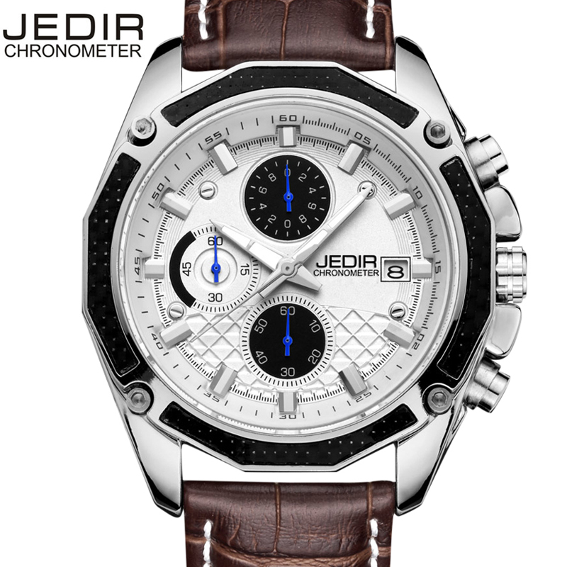 Fashion Casual Style Mens Watches Top Brand Luxury Leather Quartz-watch Chronograph Luminous Sport Men Wrist Watch reloj hombre fashion retro map style mens watches top brand luxury leather quartz watch sport men wrist watch reloj hombre assassin s time