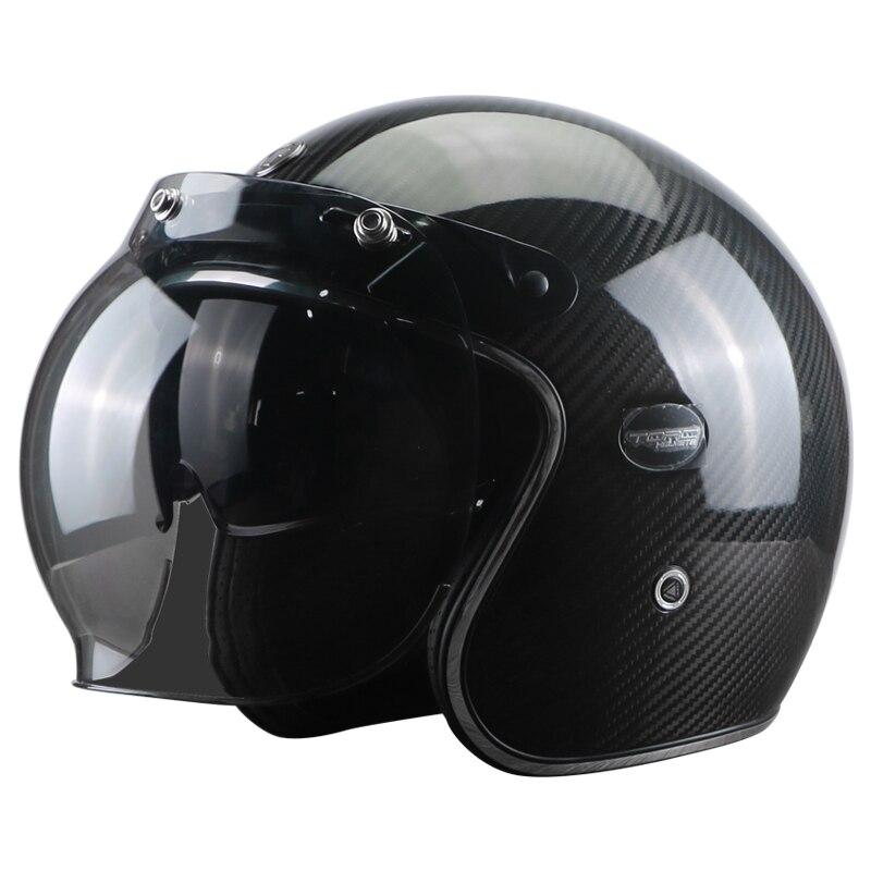 TORC brändi süsinikkiust MOTO kiiver casco capacetes vintage jet - Mootorrataste tarvikud ja osad - Foto 2