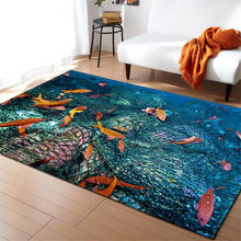 3D Ocean World Area Rug Children Room Decoration Rugs Memory Foam Water Absorption Non-Slip Mats Soft Flannel Carpet Living Room brick wall pattern indoor outdoor water absorption area rug
