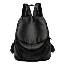 Quality Backpack Bagpack Women Fashion School Shoulder Bags Backpacks for Teenage Girls Female Black Leather Backpacks Sac A Dos smiley sunshine black leather women backpack female fashion drawstring school bag backpack for teenage girls bagpack sac a dos