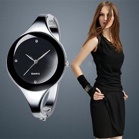 Women Luxury font b Watch b font 6 Colors Brand Style Stainless Steel Bangle font b