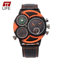 TTLIFE Brand Multi-Function 3-Movt Quartz WristWatch Analog Military Men's watches with Big Dial for men relogios masculino