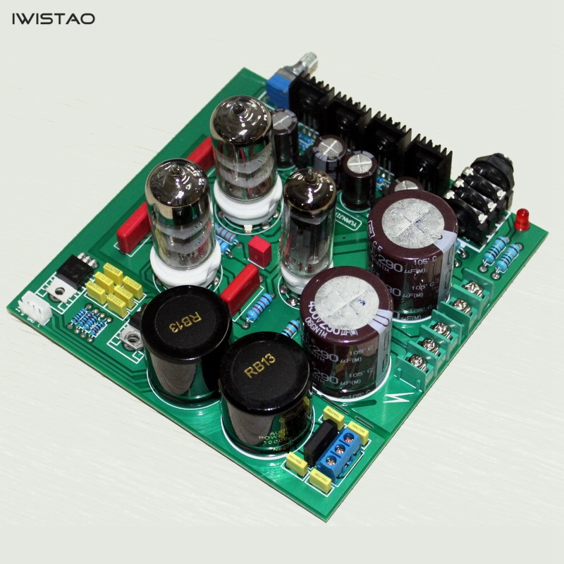 IWISTAO Tube Headphone Amplifier Class A Finished Board 6N3 Preamplifier and 6Z4 Rectifier Lehmann Circuit стоимость
