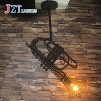 T 2016 Sachs Iron Loft Pendant Lighting Industrial Style Creative E27 LED Lamps For Bar Coffee Shop Black&Brown Free Shipping