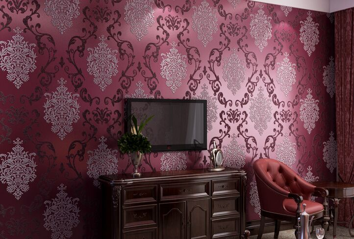 junran European Style Wallpaper for Walls 3d Vintage Non Woven Wallpaper Rolls Blue Damask Wall Paper Floral for Bedroom Living