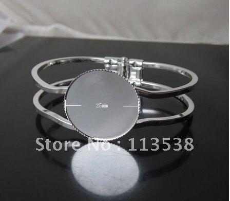 Горячая 20 шт./лот 25 мм Pad круглое основание посеребренные дизайн филигрань DIY jewelry браслет