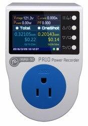 PR10 E miernik mocy US15A/gniazdo pomiaru mocy w domu/watomierz/kolorowy wyświetlacz lcd TFT 2.4 cala/0.5FS/0.1 ~ 3750w w Mierniki mocy od Narzędzia na