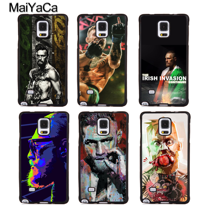 MaiYaCa Conor McGregor boxing Full Protective Phone Cases For Samsung Galaxy S5 S6 S7 edge Plus S8 S9 plus Note 5 8 Cover Shell