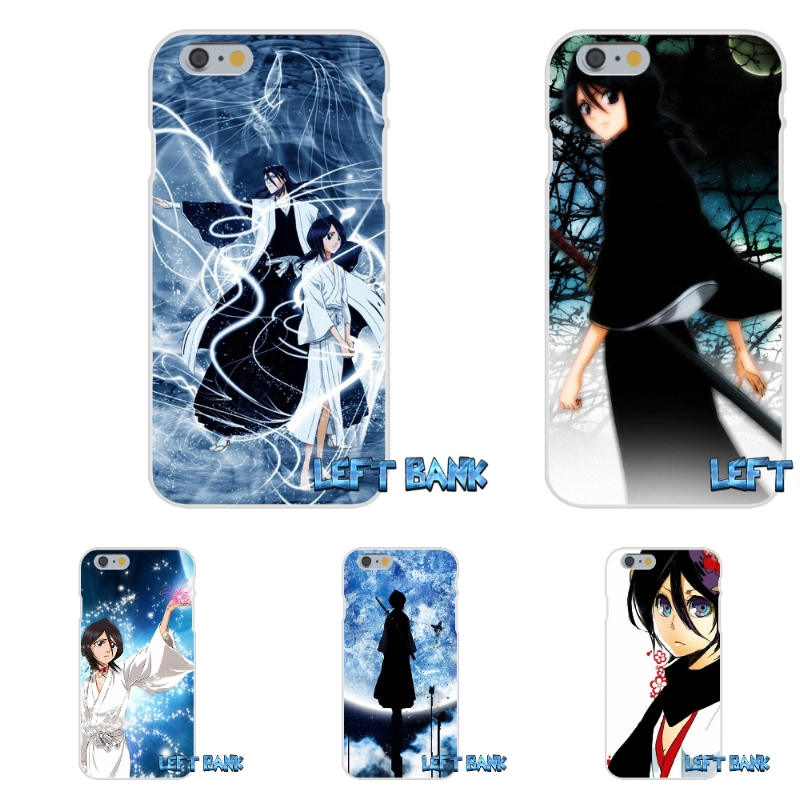 Bleach Rukia Kuchiki Soft Silicone TPU Transparent Cover Case For iPhone 4 4S 5 5S 5C SE 6 6S 7 Plus
