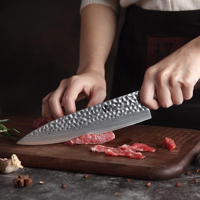 XINZUO 2 قطعة سكاكين المطبخ مجموعة المطبخ دمشق شارب مجموعة أدوات المائدة اليابانية VG10 النواة المساعدة الشيف السكاكين مع Pakka الخشب مقبض-في أطقم سكاكين من المنزل والحديقة على  مجموعة 3