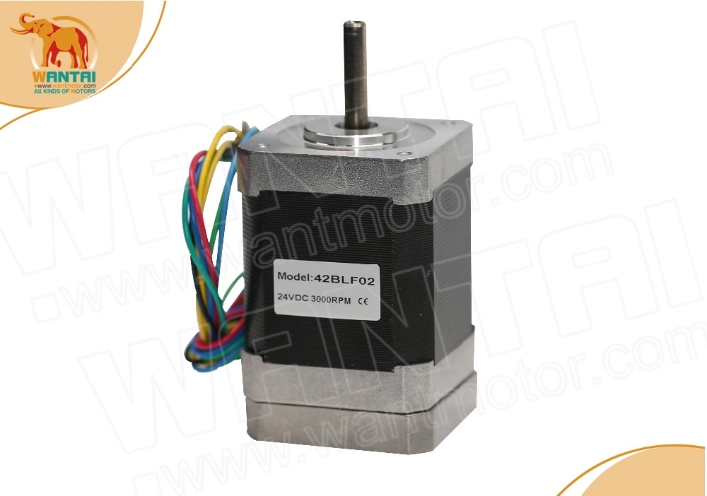 цена на (German Ship & No Tax) 3D CNC Wantai Nema 17 Brushless DC Motor 4000RPM, 24VDC,52W,42BLF02, www.wantmotor.com