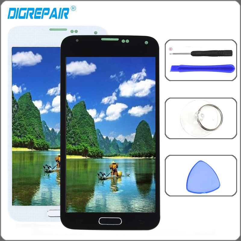 For Samsung Galaxy S5 Display G900F G900M G900A G900T LCD Display Touch Screen Digitizer With Home