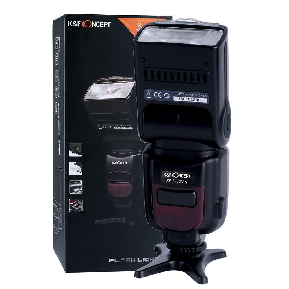 ФОТО K&F CONCEPT KF590N Flash Speedlite Flash Light For Nikon SLR Digital SLR Cameras  D90 D7000 D5100 D3100 D7100 D80S D200 Hot Sale