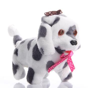 W nowym stylu 13 cm elektroniczne zabawki pluszowe dla psów zabawki pluszowe rozmowy dźwięk Cartoon piękny pies edukacyjne zabawki świąteczne prezenty urodzinowe tanie i dobre opinie 11 cm-30 cm Zwierzęta i Natura 8 ~ 13 Lat 2-4 lat 5-7 lat Pp bawełna Electric toy dog Color random 18*8 5*13cm 150g 1pcs