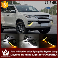 Nightlord 2pcs Set White Yellow Good Quality DRL Day Time Running Light Turn Signal Light Car
