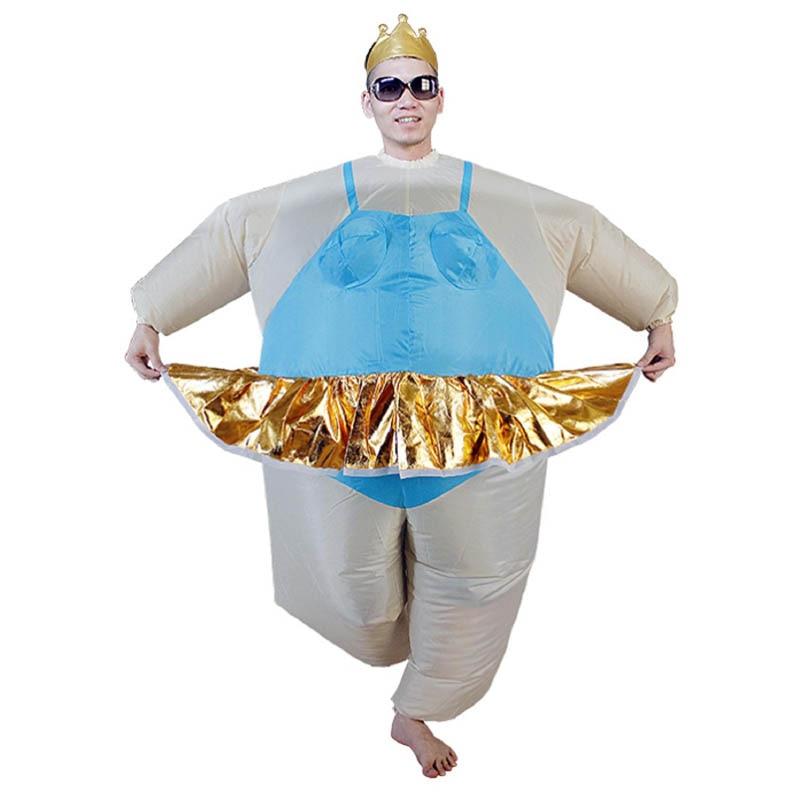 JYZCOS Purim Halloween Christmas Party- ի փչովի Ballerina - Կարնավալային հագուստները - Լուսանկար 3