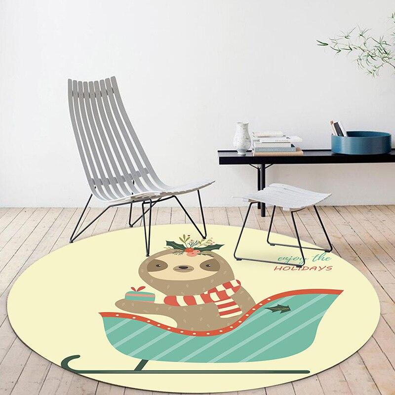 Cartoon Lion Round Carpet For Living Room Bedroom Home Decor Carpet Rug Children Kids Room Soft Play Area Rug Chair Mat