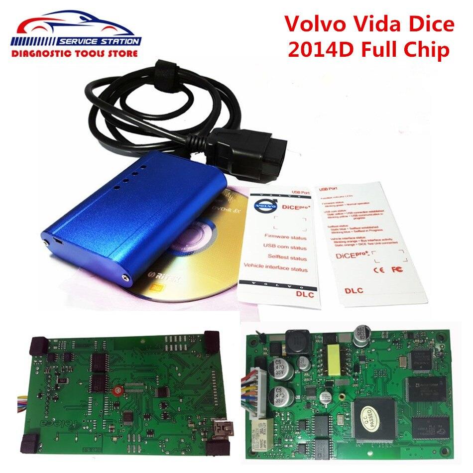 Prix pour Shiping libre Super Pour Volvo Vida Dés Avec Vert Conseil meilleur Qualité Vida Dice pour VOLVO Pro 2014D Avec Fimware mise à jour et Auto-Test