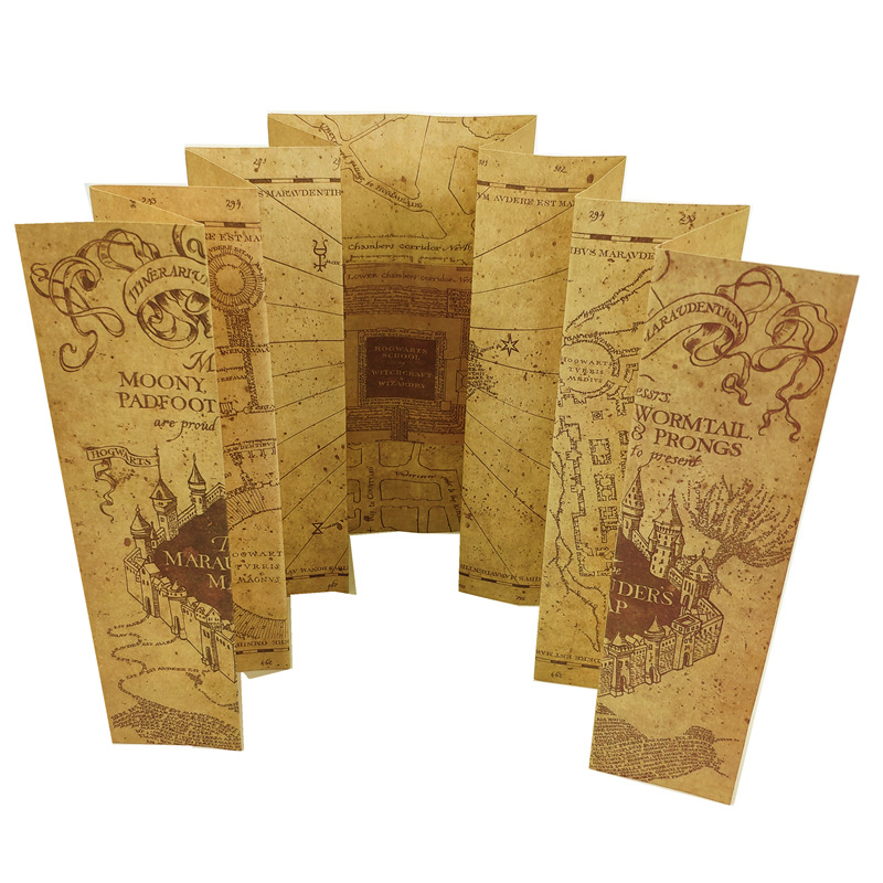 The Marauder's Map/Wizard School Letter/Platform 3/4 Ticket  Wizard Ron Hedwig Hermione King's Cross Railway Station