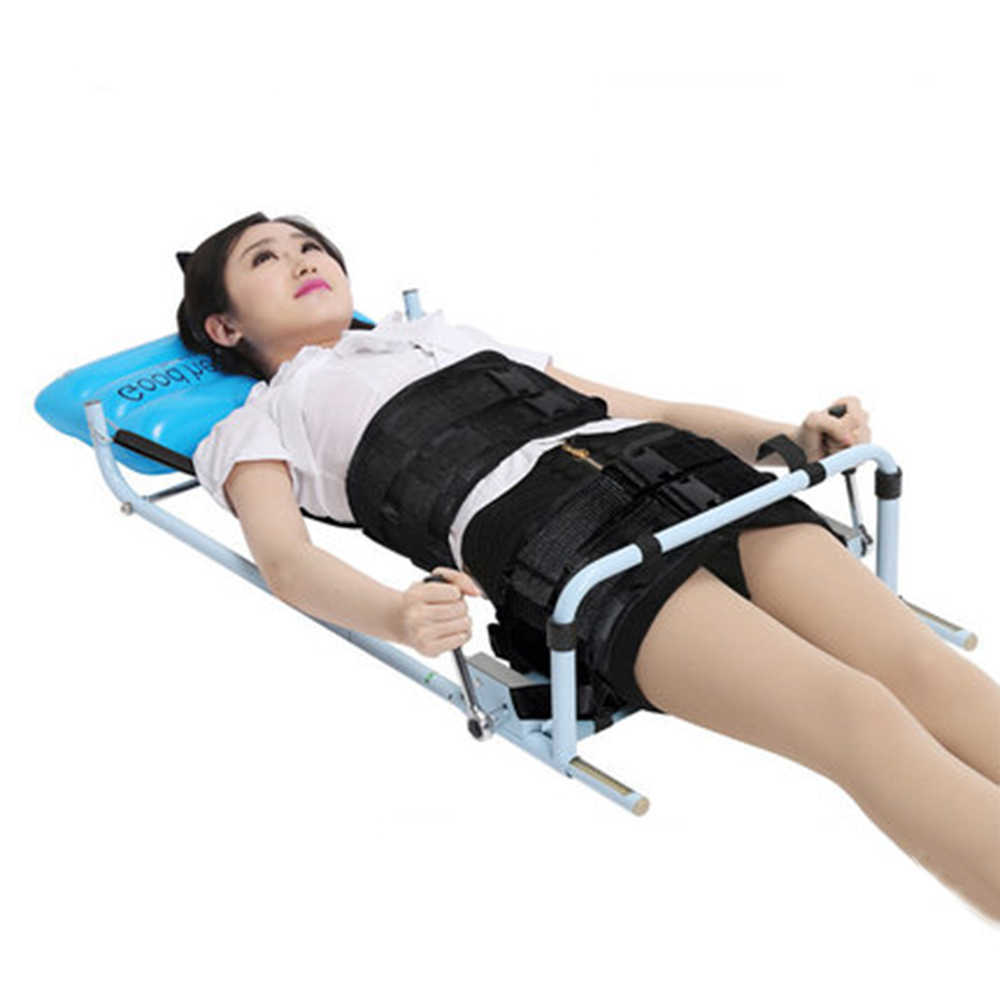 Efficent Cervical Spine Lumbar Spine Traction Bed for Lumbago Low Back Pain Therapy Massage Body Stretching Device