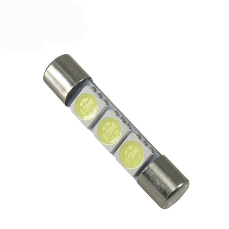 Meetroc grande Promotion blanc 31mm 3 SMD LED voiture Auto C5W intérieur dôme Festoon vanité miroir pare-soleil lumières ampoule lampe DC 12 V