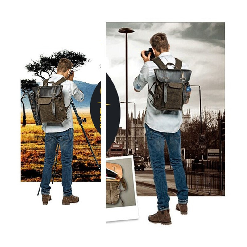 wholesale HOT NEW National Geographic NG A5290 Retro Canvas DSLR Camera Bag Backpack