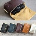 Genuine Real Leather Camera Bag Pocket For Sony RX100 M2 M3 M4 Ricoh GR GR2 Fuji X70 Canon G7X G9X S95 S100 S110 Nikon P330 P310
