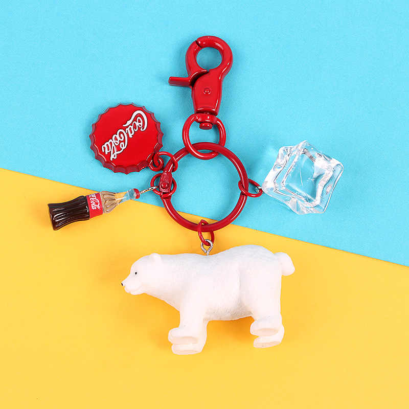 2019 The New Trendy Cute Cartoon Keychains Animal penguin Polar bear key ring Jewelry For Women Girls Fit Gift Key Ring